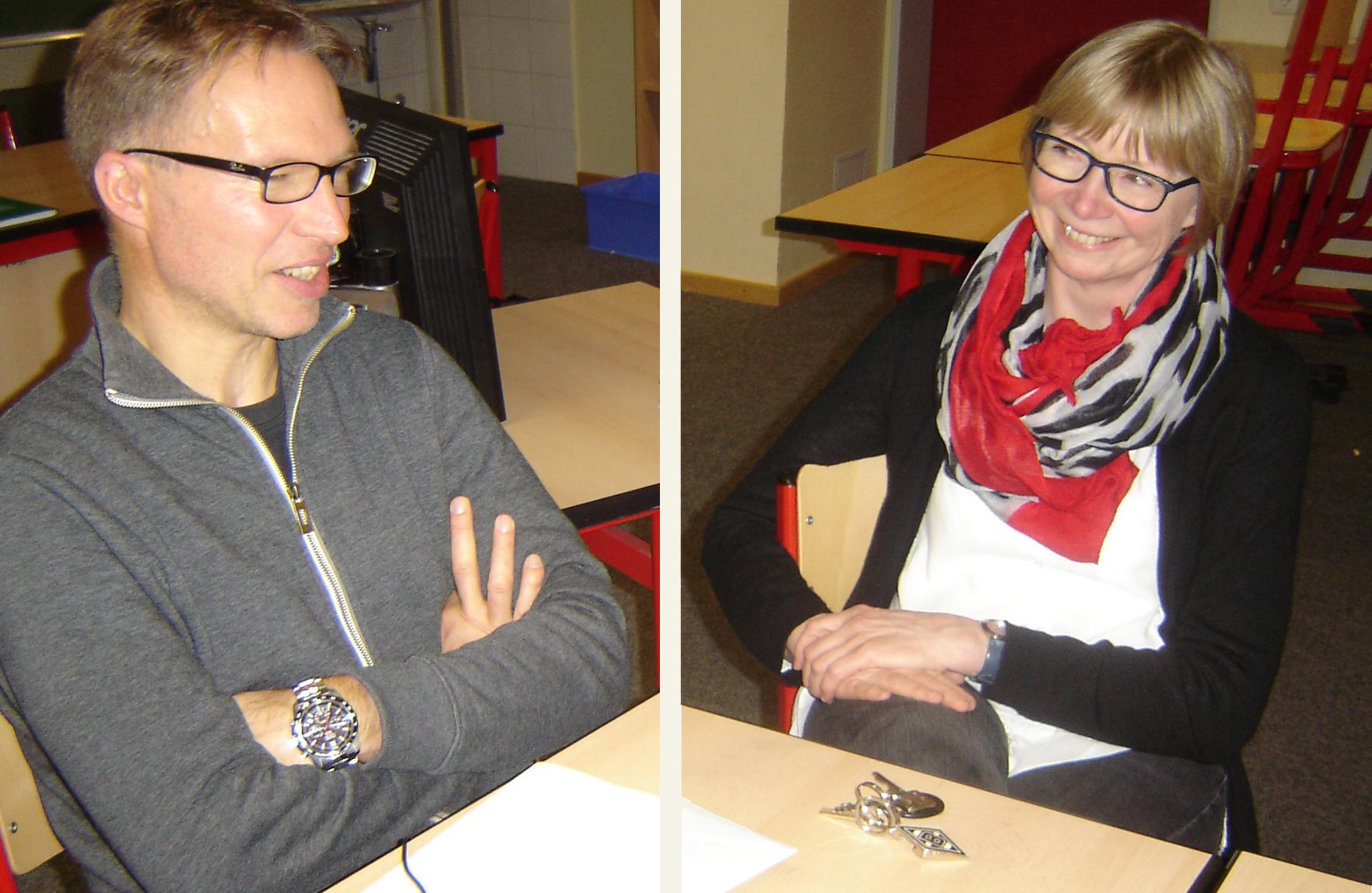 Herr Diekmann und Frau Berger im Gespräch